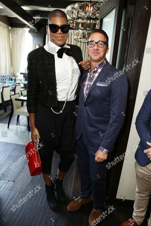 EJ Johnson and Adam Stotsky - President, Esquire Network and General Manager, E! Entertainment seen at NAMI stigmafree Luncheon sponsored by Hope & Grace, in Los Angeles, CA