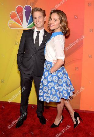 Gavin Stenhouse and Margarita Levieva attend the NBC Network 2014 Upfront presentation at the Javits Center, in New York