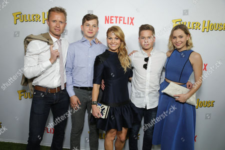 """Stock Picture of Valeri Bure, Lev Valerievich Bure, Candace Cameron Bure, Maksim Valerievich Bure and Natasha Valerievna Bure seen at Netflix Premiere of """"Fuller House"""" at The Grove - Pacific Theatres, in Los Angeles, CA"""