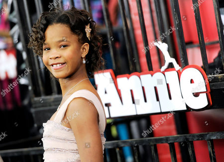 "Actress Quveznhane Wallis attends the world premiere of ""Annie"" at the Ziegfeld Theatre, in New York"