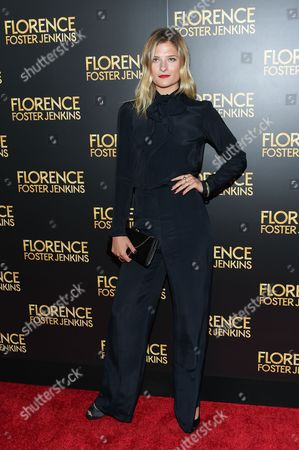 "Model Louisa Gummer attends the premiere of ""Florence Foster Jenkins"" at AMC Loews Lincoln Square, in New York"