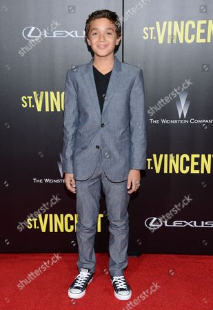 "David Iacono attends the ""St. Vincent"" premiere at the Ziegfeld Theatre, in New York"
