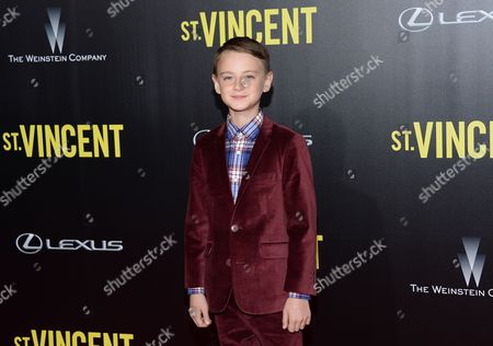 "Jaeden Leiberher attends the ""St. Vincent"" premiere at the Ziegfeld Theatre, in New York"