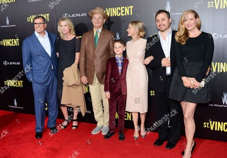 "Peter Chernin, Jenno Topping, Bill Murray, Jaeden Leiberher, Naomi Watts, Theodore Melfi and Kimberly Quinn attend the ""St. Vincent"" premiere at the Ziegfeld Theatre, in New York"