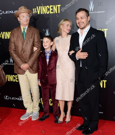 "Stock Photo of Bill Murray, Jaeden Leiberher, Naomi Watts and Theodore Melfi attend the ""St. Vincent"" premiere at the Ziegfeld Theatre, in New York"