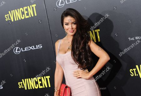 "Actress Sahar Biniaz attends the ""St. Vincent"" premiere at the Ziegfeld Theatre, in New York"