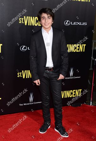 "Stock Image of Dario Barosso attends the ""St. Vincent"" premiere at the Ziegfeld Theatre, in New York"