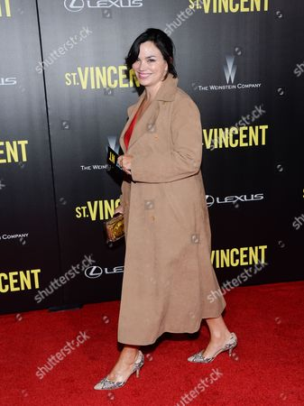 """Karen Duffy attends the """"St. Vincent"""" premiere at the Ziegfeld Theatre, in New York"""