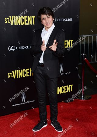 "Stock Photo of Dario Barosso attends the ""St. Vincent"" premiere at the Ziegfeld Theatre, in New York"