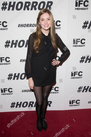 """Stock Image of Haley Murphy attends a special screening of """"#Horror"""" at The Museum of Modern Art, in New York"""