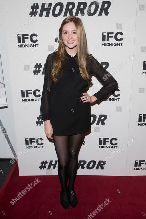 """Stock Picture of Haley Murphy attends a special screening of """"#Horror"""" at The Museum of Modern Art, in New York"""
