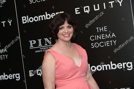 """Writer Amy Fox attends a special screening of """"Equity,"""" hosted by The Cinema Society and Bloomberg, at the Museum of Modern Art, in New York"""