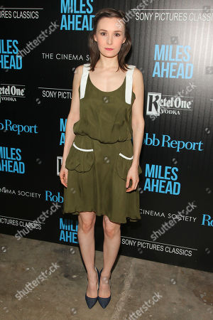 """Libby Woodbridge attends the special screening of """"Miles Ahead"""" at Metrograph, in New York"""