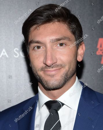 """Stock Image of Evan Lysacek attends a special screening of Open Road Films' """"Sabotage"""" hosted by The Cinema Society with Muscle & Fitness at MAC Lincoln Square on in New York"""