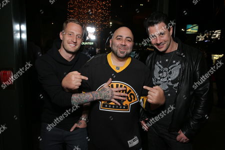Chef Michael Voltaggio, Chef Duff Goldman and Chef Johnny Iuzzini seen at Open Road Films CHEF Screening hosted by Jon Favreau and Roy Choi at Directors Guild of America, in Los Angeles, CA