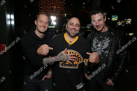 Stock Photo of Chef Michael Voltaggio, Chef Duff Goldman and Chef Johnny Iuzzini seen at Open Road Films CHEF Screening hosted by Jon Favreau and Roy Choi at Directors Guild of America, in Los Angeles, CA