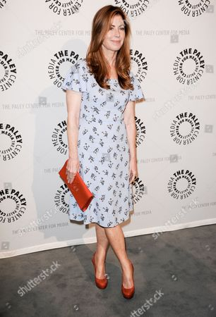 "Stock Photo of Dana Delaney arrives at the PaleyFest Previews Fall TV's Fall Flashback Reflection's: ""China Beach"" 25 Years Later at The Paley Center for Media on in Beverly Hills, Calif"