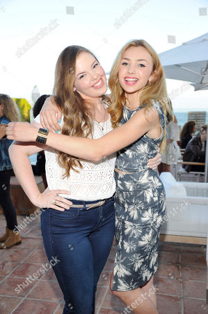 Miranda May and Peyton List seen at Peyton List Hosts a Private Party at the Infinity Audio Beach House, in Malibu, Calif