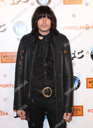 """Stock Picture of J. D. King arrives at the """"Portlandia"""" season 5 premiere presented by Bulleit Bourbon at The Ace Hotel Downtown Los Angeles on"""
