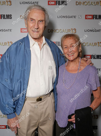 Peter Mark Richman and Helen Richman attend the premiere of Lionsgate and CNN Films' 'Dinosaur 13' at the DGA Theater on in Los Angeles