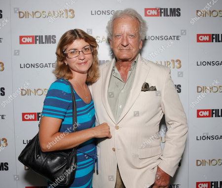 Nicolas Coster (right) and wife attend the premiere of Lionsgate and CNN Films' 'Dinosaur 13' at the DGA Theater on in Los Angeles