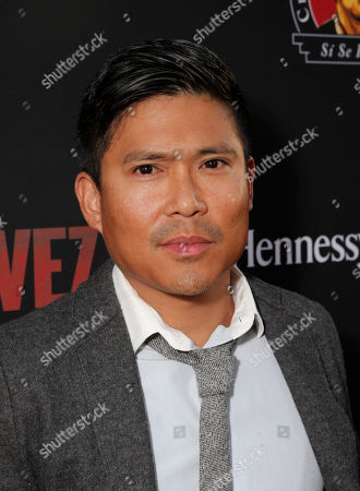 """Darian Basco attends the Los Angeles premiere of Pantelion Films and Participant Media's """"Cesar Chavez"""" at the at the Chinese Theatre, in Los Angeles"""