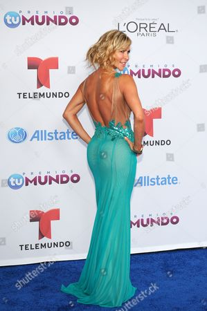 Stock Picture of Aylin Mujica arrives for the Premios Tu Mundo Awards at the American Airlines Arena on in Miami, Florida
