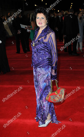 Stock Image of Eunice Gayson arrives at the world premiere of Skyfall James Bond 007 at the Royal Albert Hall on in London