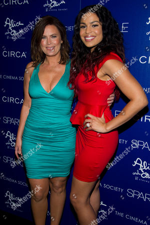 """Stock Picture of Jordin Sparks, right, and her mother Jodi Sparks attend a screening of """"Sparkle"""" hosted by The Cinema Society with Circa and Alice & Olivia on in New York"""