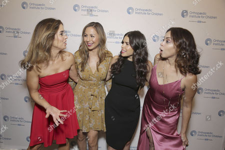Stock Image of Exclusive - Ana Ortiz, Anjelah Johnson, America Ferrera and Anel Lopez seen at Stand for Kids Annual Gala benefiting Orthopaedic Institute for Children at Twentieth Century Fox Studios Lot, in Los Angeles, CA