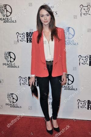 Jessica Cook attends Stars for Stripes at Hemingway's and Roxbury, in Los Angeles