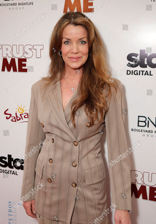 Claudia Christian attends STARZ Digital Premiere & After-party of TRUST ME sponsored by Sabra, Dobel and Petros Restaurant on in Los Angeles