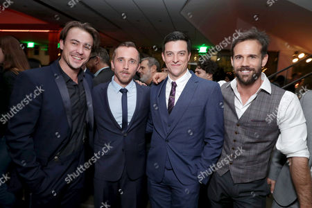 "Ben O'Toole, Benedict Hardie, James Mackay and Luke Pegler seen at Summit Entertainment, a Lionsgate Company, Los Angeles Special Screening of ""Hacksaw Ridge"" after party at The Academy's Samuel Goldwyn Theater, in Beverly Hills, Calif"