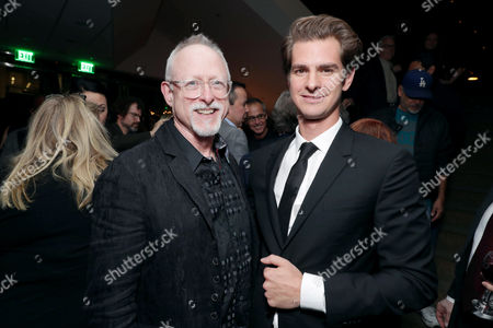 "Screenwriter Robert Schenkkan and Andrew Garfield seen at Summit Entertainment, a Lionsgate Company, Los Angeles Special Screening of ""Hacksaw Ridge"" after party at The Academy's Samuel Goldwyn Theater, in Beverly Hills, Calif"