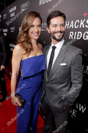 """KaDee Strickland and Jason Behr seen at Summit Entertainment, a Lionsgate Company, Los Angeles Special Screening of """"Hacksaw Ridge"""" at The Academy's Samuel Goldwyn Theater, in Beverly Hills, Calif"""