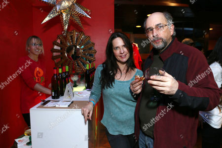 Sheila Kelley, left, and Richard Schiff attend Talent Resources suites,, in Park City, Utah