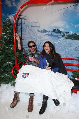 Henri Esteve and Gina Rodriguez attend Talent Resources Suites,, in Park City, Utah