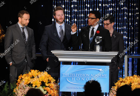 "Executive Producer DL Hughley accepting the Academy Honor award for ""DL Hughley: The Endangered List"" speaks onstage at the Academy of Television Arts & Sciences Presents ""The 6th Annual Television Honors"" at the Beverly Hills Hotel on in Beverly Hills, California"