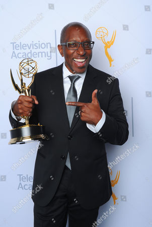 "EXCLUSIVE - Greg Phillinganes, winner of the award for outstanding music direction for ""Stevie Wonder: Songs in the Key of Life - An All Star GRAMMY Salute"", poses for a portrait at the Television Academy's Creative Arts Emmy Awards at Microsoft Theater, in Los Angeles"