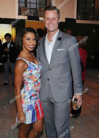Angel Parker, left, and Eric Nenninger seen at the Television Academy's 67th Emmy Awards Dynamic and Diverse Nominee Reception at the Montage Beverly Hills, in Beverly Hills, Calif
