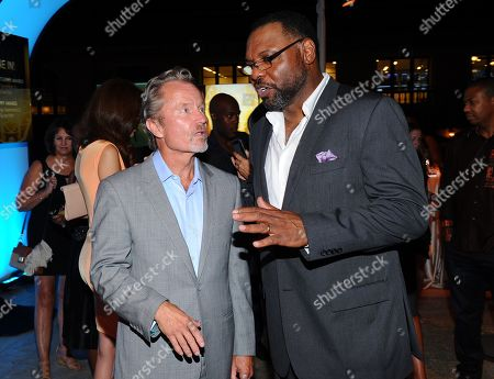 John Savage, left, and Petri Hawkins-Byrd seen at the Television Academy's 67th Emmy Awards Dynamic and Diverse Nominee Reception at the Montage Beverly Hills, in Beverly Hills, Calif
