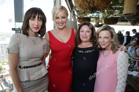 Merle Ginsberg, Abbie Cornish, Jessica Paster and Carol McColgin at The Hollywood Reporter and Jimmy Choo Celebration of the Most Powerful Stylists in Hollywood, on Wednesday, March, 13, 2013 in Los Angeles