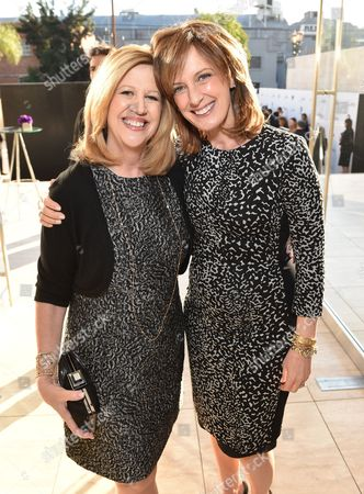Abbe Raven, left, and Anne Sweeney attend a celebration of The Hollywood Reporter's Power 100 Women in Entertainment breakfast at Milk Studios, in Los Angeles