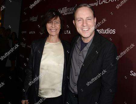 Kristine Belson and Kirk DeMicco arrive at The Hollywood Reporter Next Gen 20th Anniversary Gala Celebration sponsored by Samsung Galaxy, MR PORTER.COM, Delta, Ketel One, and Amazon Studios, in Los Angeles