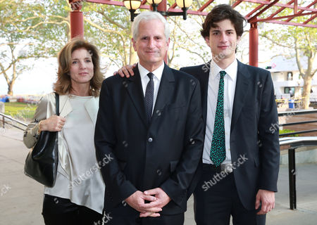"Caroline Kennedy, Edwin Schlossberg and Jack Kennedy Schlossberg seen at The Statue of Liberty - Ellis Island Foundation's ""Gala in the Great Hall"" at the Ellis Island National Museum of Immigration, on in New York"