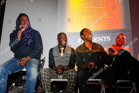 """Director Jeymes Samuel, Michael K. Williams, Isaiah Washington, and Jesse Williams give a q&a following the Bulleit Bourbon presents """"They Die by Dawn"""" premiere at SXSW, on in Austin, Texas"""