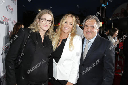 Emma Watts, President of Production at Fox Filmed Entertainment, Producer Julie Yorn and Jim Gianopulos, chairman and CEO of Fox Filmed Entertainment seen at the Twentieth Century Fox Los Angeles Premiere of 'The Other Woman', in Westwood, Calif