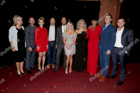 "Producer Janet Healy, Nick Kroll, Scarlett Johansson, Producer Christopher Meledandri, Matthew McConaughey, Reese Witherspoon, Tori Kelly, Jennifer Hudson, Director/Writer Garth Jennings and Taron Egerton seen at Universal Pictures ""Sing"" at the 2016 Toronto International Film Festival, in Toronto"