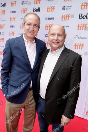 """Brian L. Roberts, Chairman and CEO of Comcast Corporation, and Producer Christopher Meledandri seen at Universal Pictures """"Sing"""" at the 2016 Toronto International Film Festival, in Toronto"""