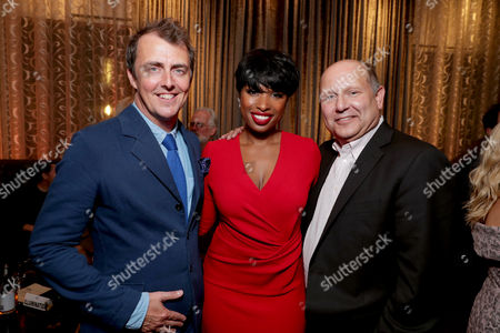 """Director/Writer Garth Jennings, Jennifer Hudson and Producer Christopher Meledandri seen at Universal Pictures """"Sing"""" after party at the 2016 Toronto International Film Festival, in Toronto"""